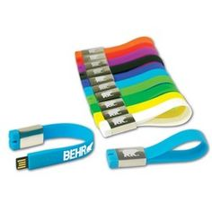 Wear your computer files and company logo on your wrist with our USB bracelet! USB 2.0 SuperStrap™ Drive ST