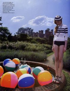 fun Beach Ball, Fasion, Girly, Photo And Video, Retro, Chic, Fun, Editorial, Beauty