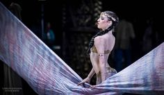 Alicia Hauffray in the Arabian Dance from Compañía Nacional de Danza de México's The Nutcracker. Photo by Carlos Quezada