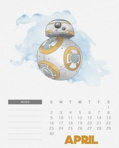 Calendário das Princesas Disney e de Star Wars