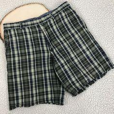 Banana Republic Green Blue Plaid Shorts Men's Size Sz 33 Casual Preppy  #BananaRepublic #CasualShorts