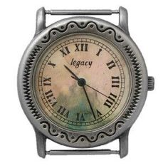 Large Hand Painted Dial Western Watch Face_18mm ... H27P - Final Sale