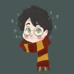 Little icons of characters of the Harry Potter series Harry Potter Artwork, Harry Potter Drawings, Harry Potter Fan Art, Harry Potter Universal, Harry Potter Fandom, Harry Potter World, Saga, Sung Kang, Cute Illustration