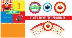 elmo party free printables