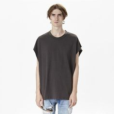 Hip hop Streetwear Oversize Style Solid Color T-shirt Men Justin Bieber Kanye West Swag Black Tees Tops Fashion Rock Singers XL #Affiliate