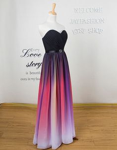 Colorful Bridesmaid Dress Long prom dress Long praty by jayfashion