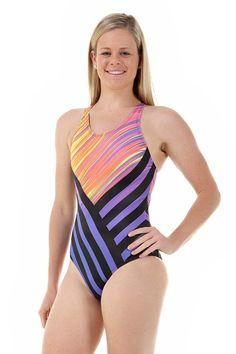 89e7823ab1 Ladies Sport Back Wisper One Piece Chlorine Resistant Swimsuit. Swimwear  SalePlus Size ...