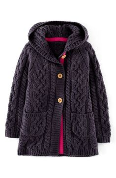 Mini Boden Long Cable Cardigan (Toddler Girls, Little Girls & Big Girls) available at #Nordstrom