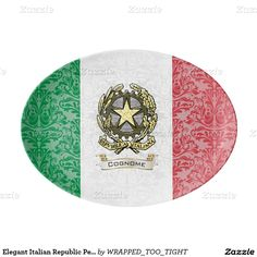 Elegant Italian Republic Personalize Porcelain Serving Platter