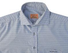 Image of Vintage Blue Patterned Shirt Size Large