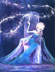 cottonillust: Elsa, the snow queen. Disney Fan Art, Disney Love, Disney Magic, Disney Style, Frozen Elsa And Anna, Disney Frozen Elsa, Disney And Dreamworks, Disney Pixar, New Disney Movies