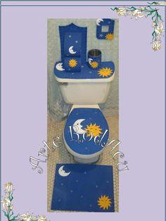 Juegos de baño en foami Bathroom Crafts, Bathroom Sets, Sewing Crafts, Sewing Projects, Projects To Try, Butterfly Bathroom, Magic For Kids, Butterfly Decorations, Vintage Tablecloths