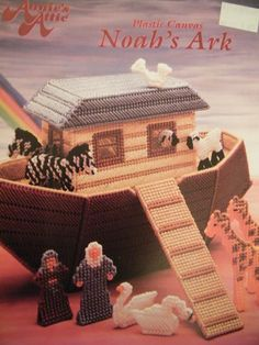 NOAH'S ARK  PLASTIC CANVAS PATTERN FOR SALE. THIS PATTERN IS OUT OF PRINT. FROM SEWANDSEWGRLS ON BONANZA!