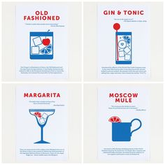 Classic Cocktails posters with funny, famous trivia + quotes on them by Crispin Finn | Cool Mom Eats
