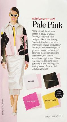 What to Wear with Every Color In Spring 2014 - The Key ItemThe Key Item