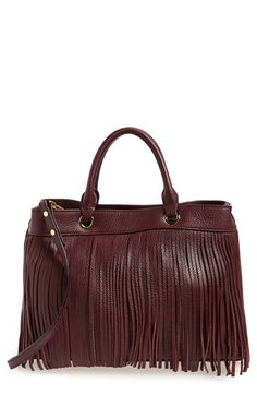 Milly Fringed Leather Tote available at #Nordstrom