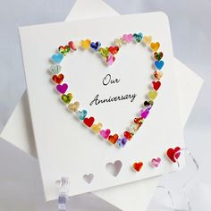 Handmade 3D Anniversary Card Our Anniversary On by CardsbyGaynor, £3.95