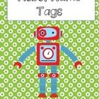 Complete your Robot themed classroom with these super cute name tags! Includes 6 different robots and two background choices!  Please rate, follow ...