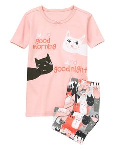 Good Morning Kitties Shortie Two-Piece Gymmies® at Gymboree
