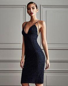 Womens navy midi dress from Lipsy - £55 at ClothingByColour.com