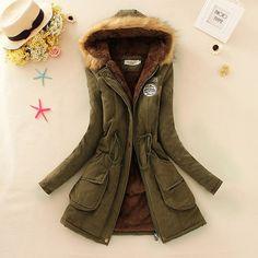 $18.99 (Buy here: https://alitems.com/g/1e8d114494ebda23ff8b16525dc3e8/?i=5&ulp=https%3A%2F%2Fwww.aliexpress.com%2Fitem%2F2016-Winter-Women-Coat-Parka-Casual-Outwear-Military-Hooded-Coat-Woman-Clothes-Fur-Coats-manteau-femme%2F32657354510.html ) Winter Women Coat 2016 Parka Casual Outwear Military Hooded Coat Woman Clothes Fur Coats manteau femme Winter Jacket Women C001 for just $18.99