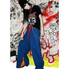 Slipknot Metal Band Tee ($125) ❤ liked on Polyvore featuring tops, t-shirts, graphic tees, vintage graphic tees, blue tee, vintage t shirts and logo tees