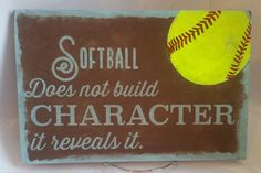 Hand Painted Softball Sign