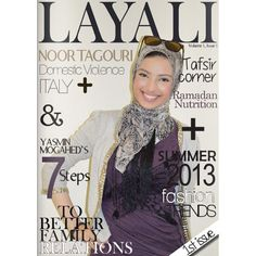 Noor tagouri on the first ever cover of layali Representin us well hijabi's n' Libyans :)