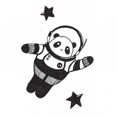 Bonne nuit avec pandastronaute !     #dessin #illustration #drawing #art #artist #instagram #creation #blackandwhite #noiretblanc #etsy #etsylover #panda #astronomy #astronaut #space #illustratrice #comics #paris #danslespace #ink #pencil #llioh #goodnight #bonnenuit #espace #etoile #moon #doodle