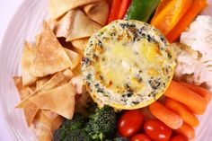 Cheesy Baked Spinach Dip by Carla Hall