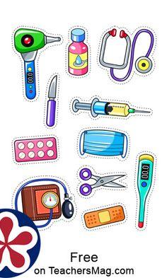 Doctor Theme Preschool, Preschool Art Activities, Toddler Learning Activities, Preschool Classroom, Kids Learning, Health Activities, Community Helpers Activities, Community Helpers Art, Doctor Games For Kids