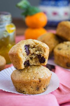 Orange Marmalade Vegan Muffins with chocolate chips