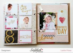 by laeti: Mini album I LOVE YOU pour SBW Hello Beautiful Collection - Memory Planner - Heidi Swapp - Kiss Kiss Collection - Crate Paper