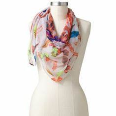 Manhattan Scarf Co. Feathers Sheer Square Scarf