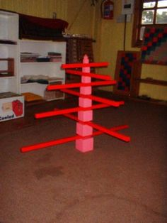 Red Rods and pink tower