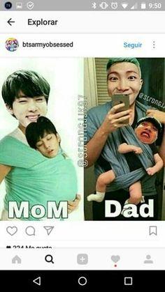 Dad pls   BTS - Eomma Jin, Appa Namjoon, Namjagi Jungkook