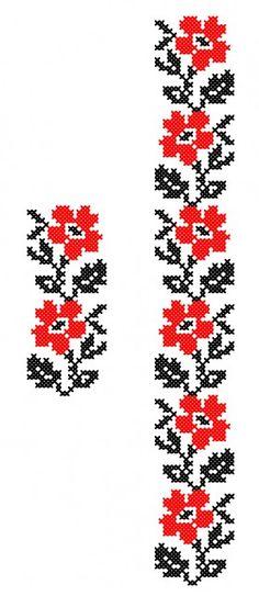 Embroidery Stitches, Cross Stitch, Crochet, Floral, Pattern, Handmade, Veronica, Romania, Fitness