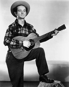 Woody Guthrie, singer, songwriter as seen in 1947. Guthrie died at 55 from issues related to Huntington's disease.