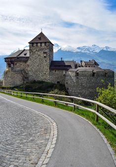 Vaduz Castle, Liechtenstein - While tiny Leichtenstein is Europe's 4th smallest country, it's one of the world's wealthiest per capita.  #travel #liechtenstein #Vaduz #europe #smalltowns #mountains #castle
