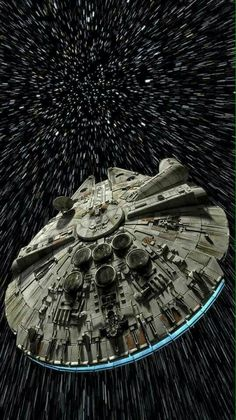 The *legendary* Millennium Falcon at FULL light speed!!