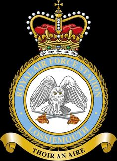 RAF Lossiemouth in Moray, north-east Scotland is one of two RAF Quick Reaction Alert (QRA) stations which protect UK airspace. Royal Air Force, Crests, British Royals, Wwii, Army, Military, Symbols, Badges, History
