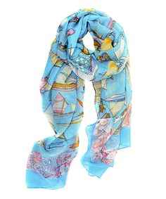 Look what I found on #zulily! Sky Blue Sailfest Scarf by Joy Accessories #zulilyfinds