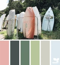 design seeds X ello Colour Pallette, Colour Schemes, Color Combos, World Of Color, Color Of Life, Pantone, Coastal Colors, Color Balance, Design Seeds