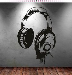 headphones music dj wall stickers wall art decal stickers is part of Sticker wall art - Headphones Music DJ Wall Stickers Wall Art Decal Stickers MusicWall art Graffiti Bedroom, Bedroom Murals, Wall Murals, Wall Art Decal, Bedroom Wall Stickers, Decals For Walls, Boys Wall Stickers, Music Graffiti, Graffiti Wall