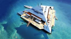 The Tetrahedron Superyacht defies gravity and looks like a Star Destroyer
