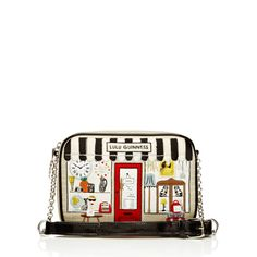 Lulu Guinness - Stone Vintage Shop - inspired by Portobello Road. Love the quirkiness of this design, I have seen it and it looks even better in reality