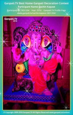 Sachin Kapase Home Ganpati 2016 Decoration Pictures, Decorating With Pictures, Ganpati Picture, Ganpati Festival, Lord Ganesha, Festival Decorations, Picture Video, Tv, Television Set