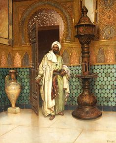 The Moorish Sultan in his Palace - Ludwig Deutsch