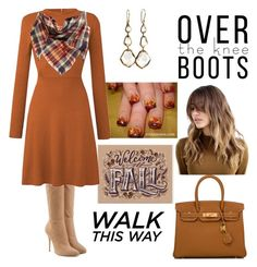 """""""Over The Knee Boots: Fall Daze"""" by tammy-gardner on Polyvore featuring Balmain, BP., Hermès, Ippolita and OverTheKneeBoots"""