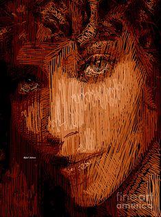 Studio Portrait In Pencil 62 Digital Art by Rafael Salazar
